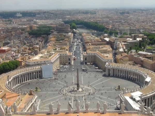 Watykan - widok z kopuły bazyliki św.Piotra