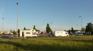 Niemcy - nocleg na parkingu przy autostradzie